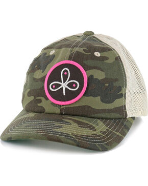 HOOey Women's Good Run Camo Snapback, Camouflage, hi-res