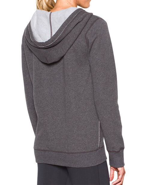 Under Armour Women's Grey Freedom Favorite Logo Hoodie , Heather Grey, hi-res