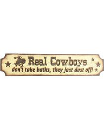 """""""Real Cowboys Don't Take Baths They Just Dust Off"""" Wooden Sign, , hi-res"""
