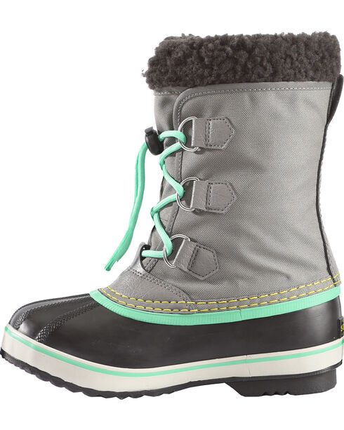 Sorel Youth Lace-Up Outdoor Boots, Grey, hi-res