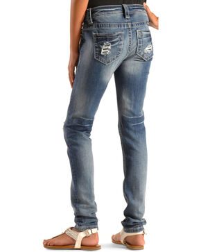 Miss Me Girls' Rugged Sky Skinny Jeans, Indigo, hi-res