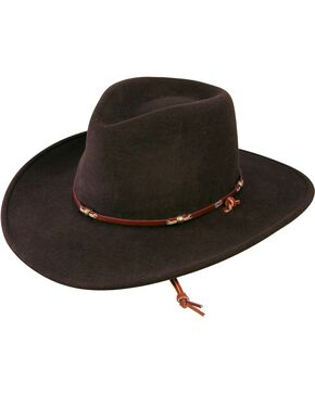 Stetson Wildwood Crushable Wool Hat, Cordovan, hi-res