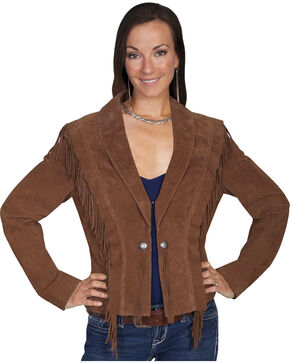 Scully Bolero Fringe Suede Jacket, Cinnamon, hi-res