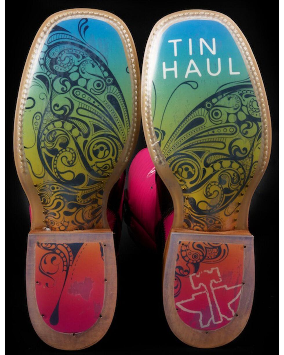 Tin Haul Women's Harlequin Western Boots, Pink, hi-res