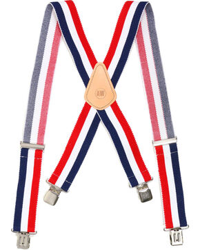 American Worker® Men's Suspenders, Red/white/blue, hi-res