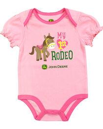 John Deere Infant Girls' Rodeo Onesie, , hi-res