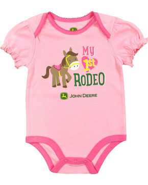 John Deere Infant Girls' Rodeo Onesie, Pink, hi-res