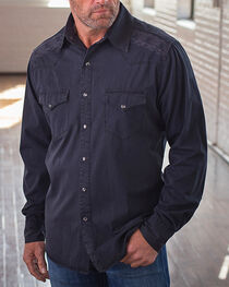 Ryan Michael Men's Black Whip Stitch & Embroidered Shirt, , hi-res