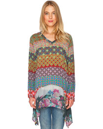 Johnny Was Women's Mode V-Neck Tunic, , hi-res