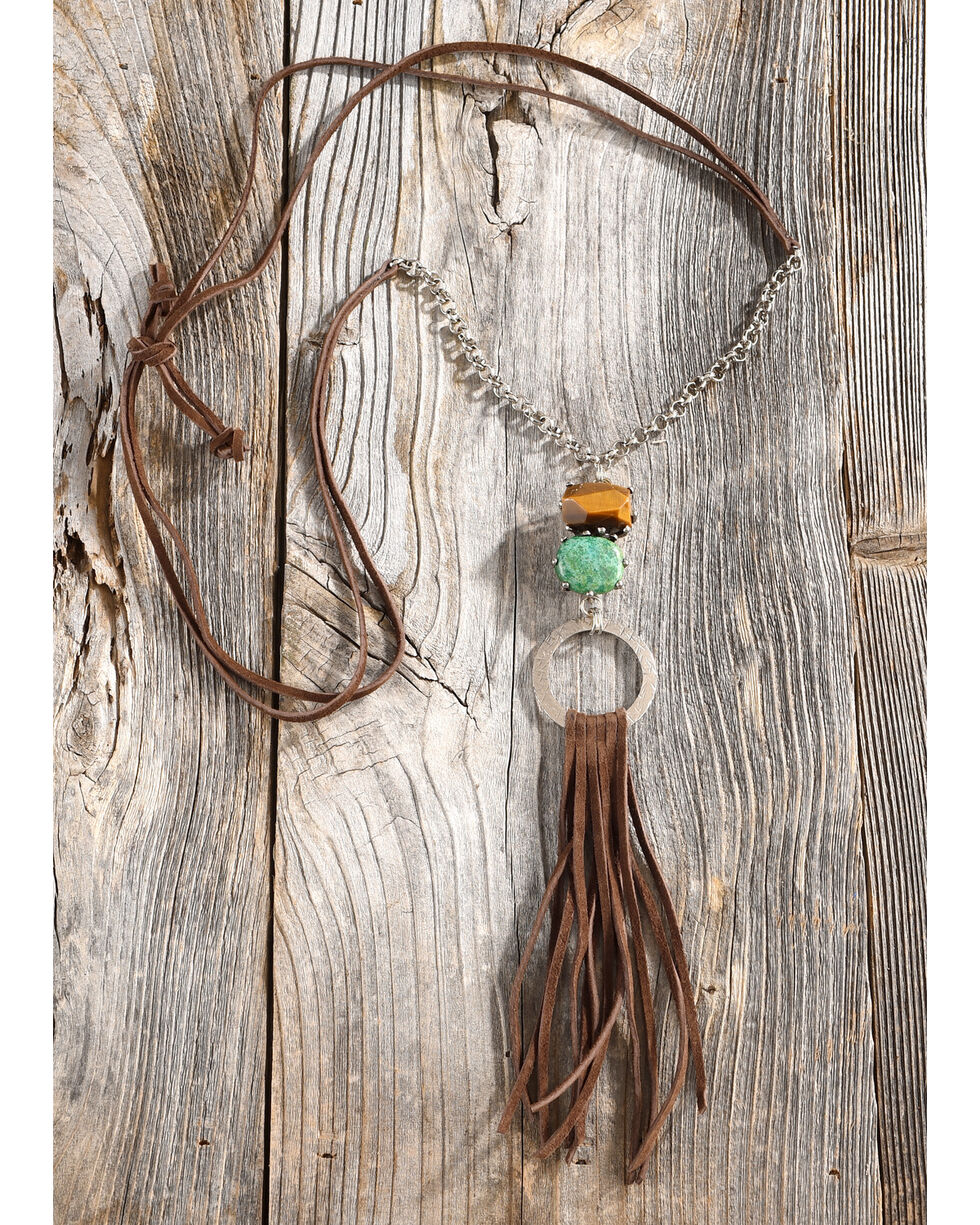 Cowgirl Confetti Women's Wild Wonder Necklace, Brown, hi-res