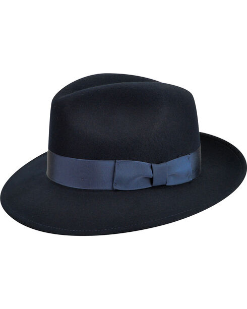 Country Gentleman Men's Navy Frederick Fedora , , hi-res