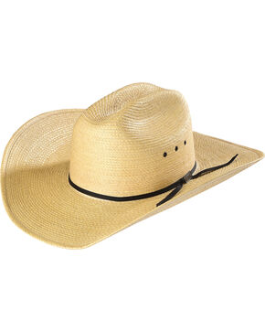 Larry Mahan Men's Natural Cowboy Palm Cowboy Hat , Natural, hi-res