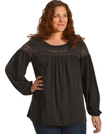 Angel Premium Women's Karlynn Top - Plus Size, Black, hi-res