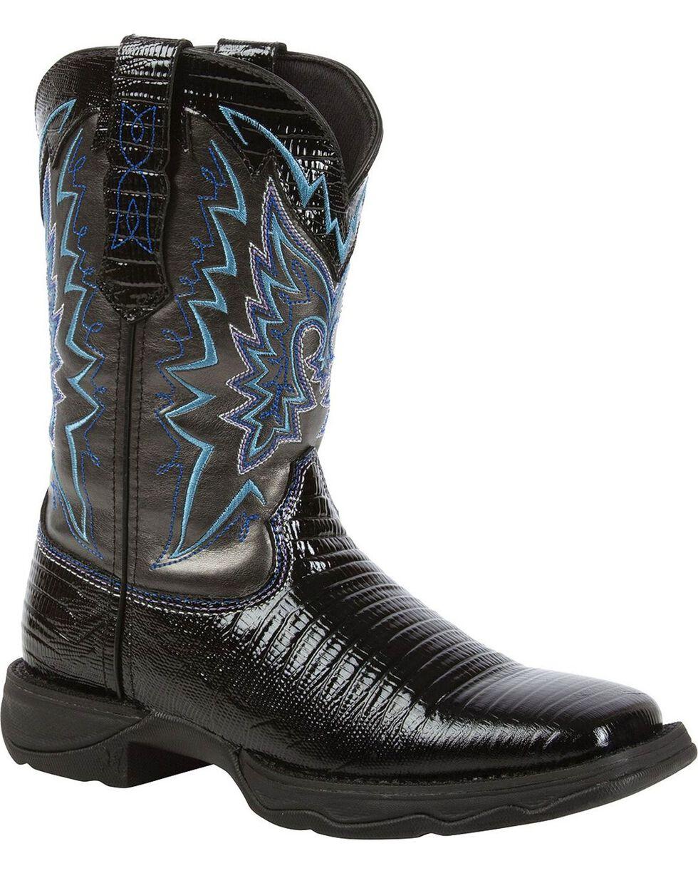 Lady Rebel by Durango Women's Snake Oil Western Boots, Black, hi-res