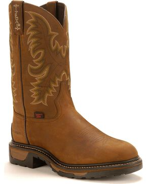 Tony Lama Men's TLX Waterproof Western Work Boots, Tan, hi-res