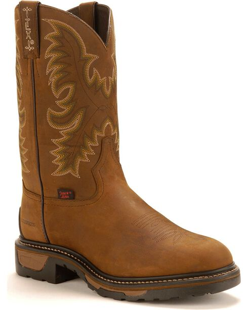 Tony Lama Men's TLX Waterproof Western Work Boots, Tan, hi-res