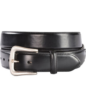 Nocona Men's Overlay Leather Western Belt, Black, hi-res