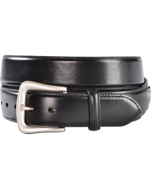 Nocona Black Western Overlay Belt - Large, Black, hi-res