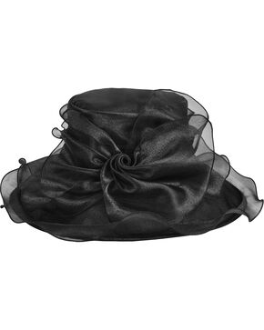 Betmar Women's Mavis Bow and Wide Brim Derby Hat, Black, hi-res