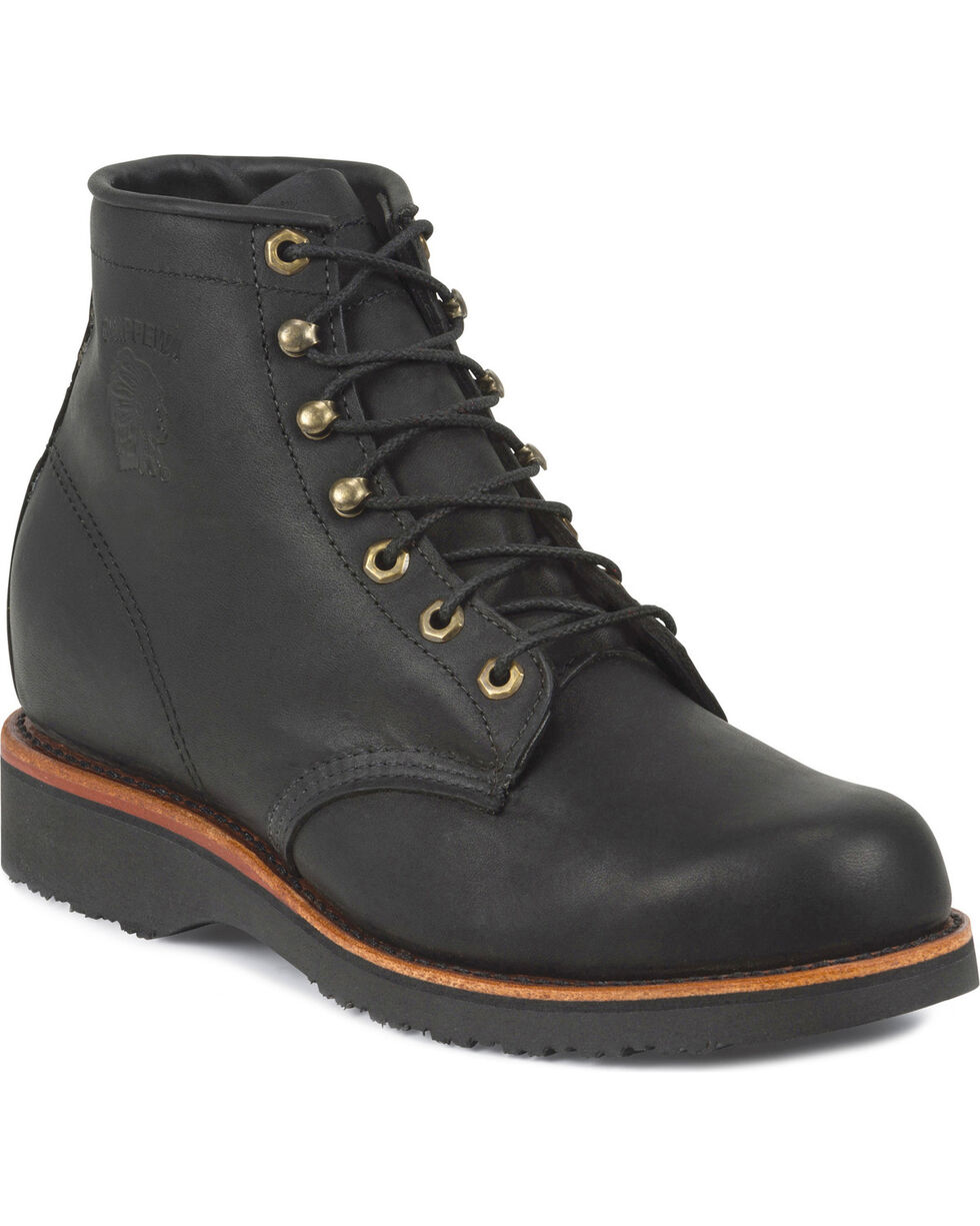 "Chippewa Men's 6"" Odessa Lace-Up Boots, Black, hi-res"
