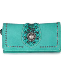Trinity Ranch Women's Filigree Tri-Fold Wallet, , hi-res