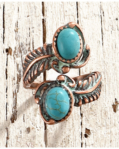 Shyanne Women's Turquoise Wrap Ring - Size 8, Turquoise, hi-res