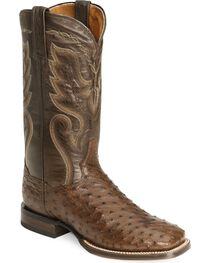 Dan Post Men's Full-Quill Ostrich Chandler Western Boots, , hi-res
