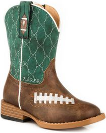 Roper Toddle Boys' Friday Night Football Western Boots - Square Toe , , hi-res