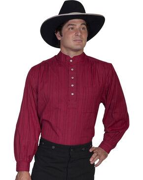 Scully Men's Lightweight Pullover Shirt, Burgundy, hi-res