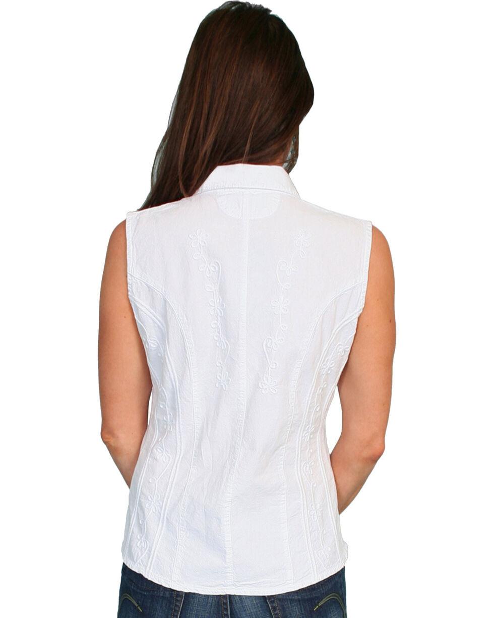 Scully Women's Peruvian Cotton Sleeveless Top, White, hi-res