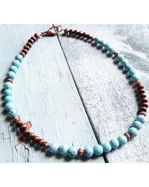 Jewelry Junkie Women's Turquoise Choker , , hi-res