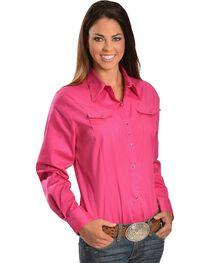 Wrangler Rhinestone Snap Western Shirt, , hi-res