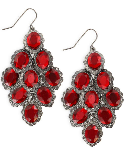 Shyanne® Women's Red Chandelier Earrings, Red, hi-res