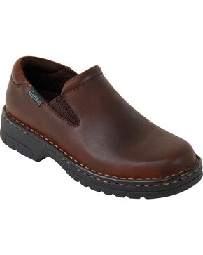 Eastland Women's Brown Newport Slip-Ons , Brown, hi-res