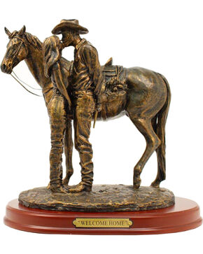 "Western Moments ""Welcome Home"" Statue, Brown, hi-res"