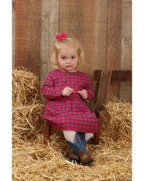 Wrangler Infant/Toddler Girls' Long Sleeve Plaid Dress , , hi-res