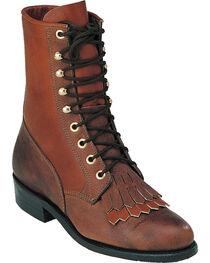 """Boulet Women's Lace Up 8"""" Vintage Boots, , hi-res"""