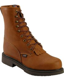 "Justin Men's Double Comfort 8"" Lace-Up Work Boots, , hi-res"
