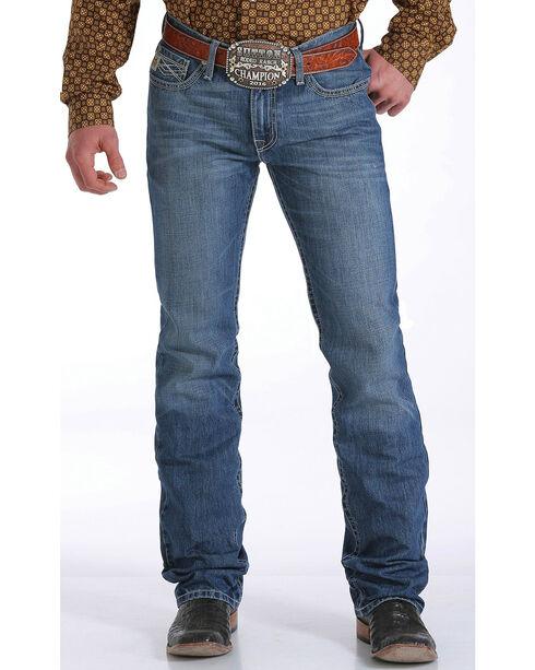 Cinch Men's Ian Stonewash Boot Cut Jeans, Indigo, hi-res