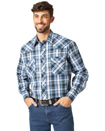 Wrangler Men's Sport Western Plaid Shirt, , hi-res