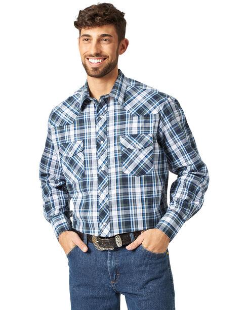 Wrangler Men's Sport Western Plaid Shirt, Plaid, hi-res