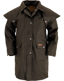 Outback Kid's Oilskin Duster, , hi-res