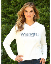 Wrangler Women's Raw Edge Hem Hoodie, , hi-res