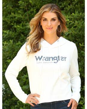 Wrangler Women's Raw Edge Hem Hoodie, Oatmeal, hi-res