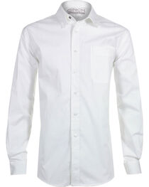 Cinch Men's White Modern Fit Long Sleeve Western Shirt , , hi-res