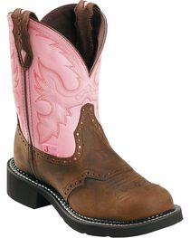 "Justin Gypsy Women's 8"" Steel Toe Work Boots, , hi-res"