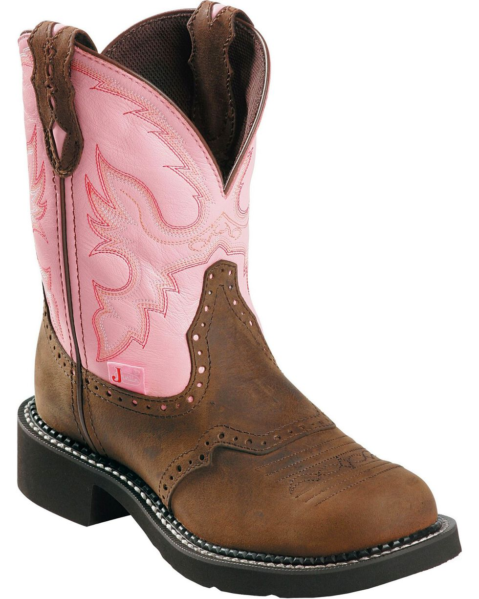 "Justin Gypsy Women's 8"" Steel Toe Work Boots, Bay Apache, hi-res"