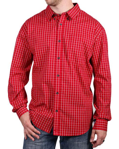 Cody James Core Men's Checkered Long Sleeve Shirt, Red, hi-res