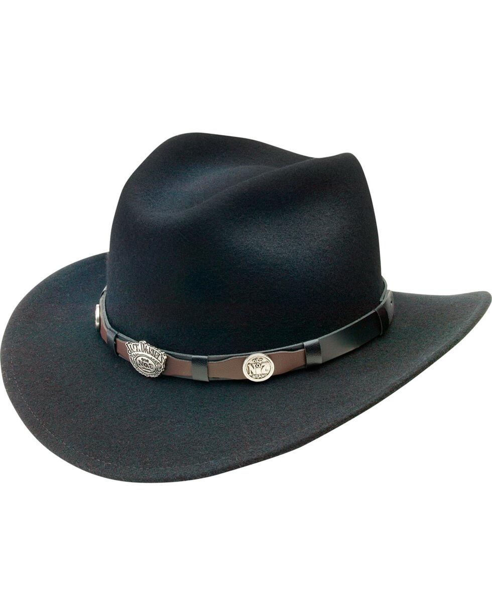 Jack Daniel's Men's Black Crushable Wool Scalloped Concho Band Hat, Black, hi-res