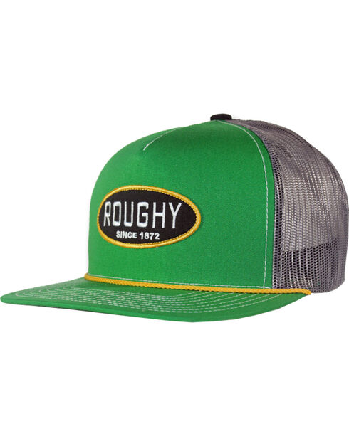 Hooey Men's Flynn Five Panel Trucker Cap , Green, hi-res